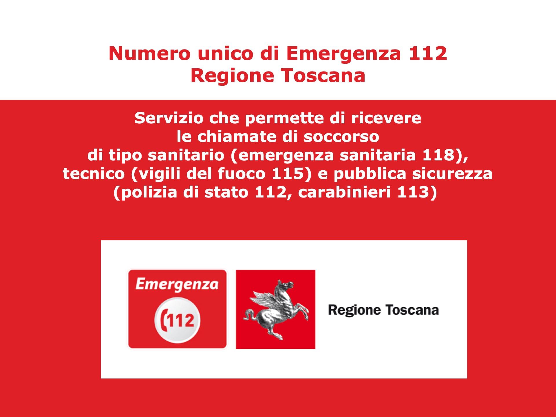 NUE 112 Regione Toscana